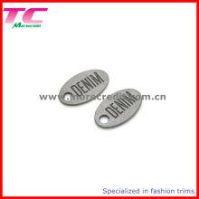 Etiqueta de marca registrada de encargo del metal