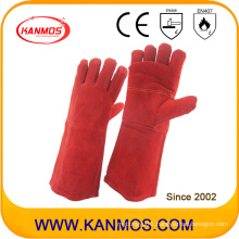 Hot Resistant Cow Split Leather Industrial Safety Welding Work Gloves (11107)