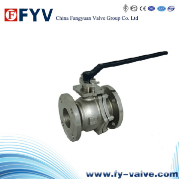 ISO 9001 2 Pieces Stainless Steel Floating Ball Valve