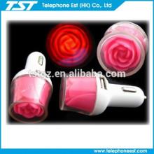 El mejor vendedor 2.1 Un cargador color de rosa del USB del USB 2 para el teléfono elegante y el ipad