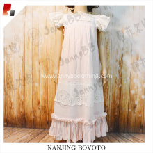 Girls cotton lace long dress