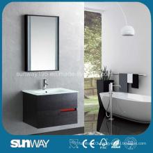 Hot Sale Wood Veener Wall Mounted Bathroom Cabinet (SW-WV1203)
