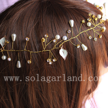 artificial wedding bridesmaid crystal beaded hair accessories store
