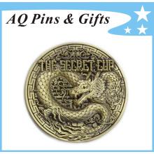 3D Engraving Metal Antique Bronze Souvenir Pin Badge (badge-146)