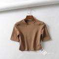 Camiseta ajustada Sport Yogo Crop Tops Mujer