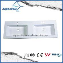 Polymarble Top Bathroom Countertop Wash Basin