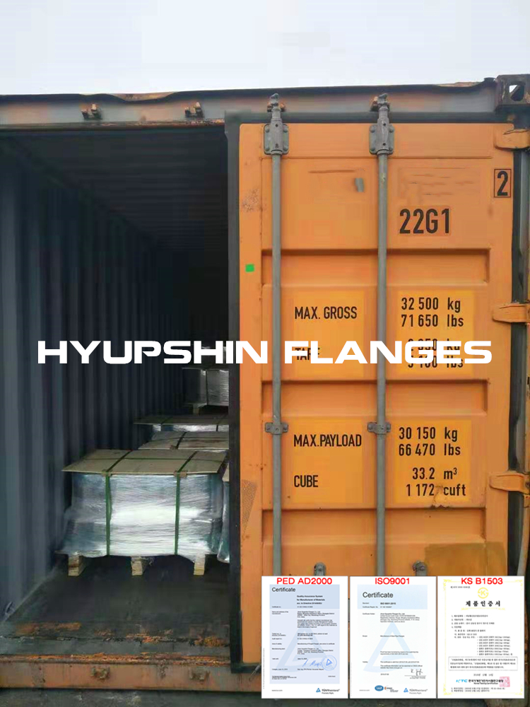 Hyupshin Flanges Shipping Containers