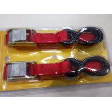 Ratchet Tie Down Strap with Cam Buckle Auto-Lock Tie Down Set