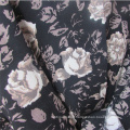 Plain Weave Printed Rose Viscose Garment Fabric for Women Dress