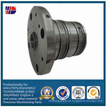 Componentes feitos à máquina de aço e de aço inoxidável personalizados da precisão do CNC