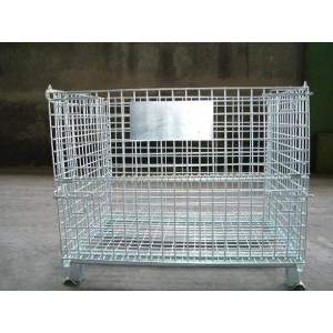 Stackable wire mesh container