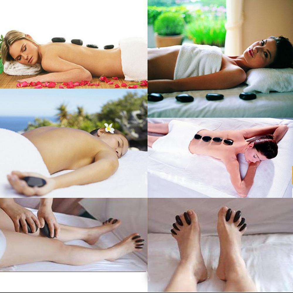 Relaxing Massage Stones Relieve Tiredness