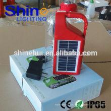 Decorativo 2015 mano lámpara de emergencia manivela solar camping luz