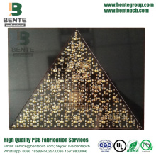 Black Ink 2 Layers PCB Low Cost PCB FR4 Tg150 ENIG 2u""