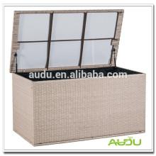 Rattan impermeable caja de cojines al aire libre