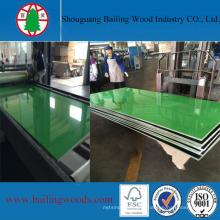 Placa UV lustrosa alta do MDF da melamina da cor verde