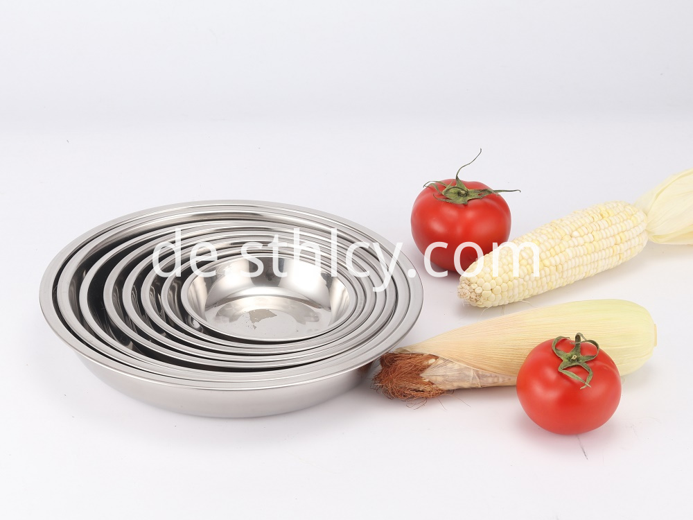 Stainless Steel Plate Set