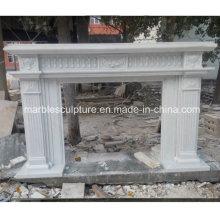 Estilo simple chimenea de mármol blanco puro (SY-MF222)