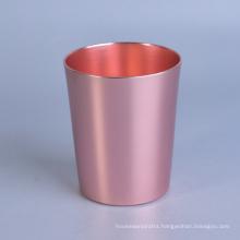Cylinder Brass Metal Candle Jar, Candle Holder
