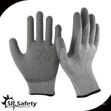 SRSAFETY 2014 Доступная цена 10 латексных рабочих латексных перчаток, саржевая отделка