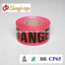 Factory supply red pe warning tape
