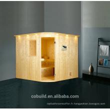 K-716 Luxe 4 personnes sauna salle de vapeur sèche, salle de sauna à vapeur de haute qualité