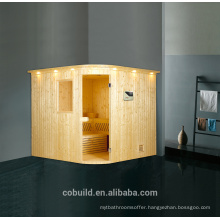 K-716 Luxury 4 person sauna room dry steam room, steam sauna room in high quality