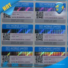 Rasguño caliente de la venta de la etiqueta engomada para el número de serie ocultado de la etiqueta de seguridad rasguñado impreso del holograma