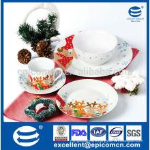 Christmas ceramic plate,ceramic dinnerware ,ceramic food plate set