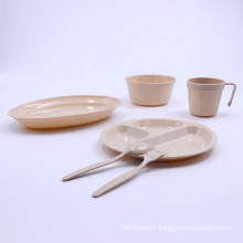 Plastic outdoor tableware set with box for picnic