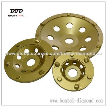 PCD cup wheel for epoxy removal