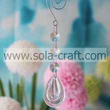 Colorful 15.5CM Clear Acrylic Crystal Pear Drop Holiday Beading Dropping Centerpiece