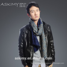 100% Wool scarf High Quality woven mens scarf wool