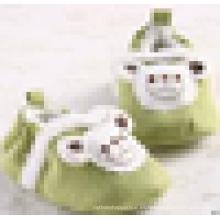 Zapatos prewalker del pesebre antideslizante de la felpa del cuero del ante del bebé del bebé recién nacido caliente