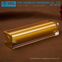 Caliente-venta lujo 80ml de ZB-PK80 80ml oro botella cuadrado de acrílico cosméticos sin aire