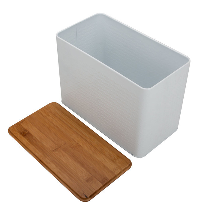 Gray White Storage Box