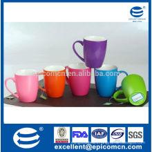 320ml/11oz customized logo printing new bone glazed pearl shiny coffee mug