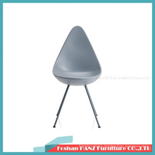 Modern Design Drop Chair Arne ABS Plastic Dining Chair with Matel Leg