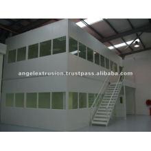 Sección de aluminio para salas blancas