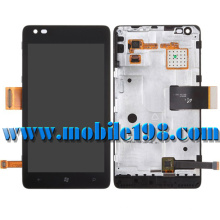 for Nokia Lumia 900 LCD Screen and Digitizer Assembly with Front Housing
