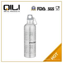 750ml Silber Edelstahl Sportflasche