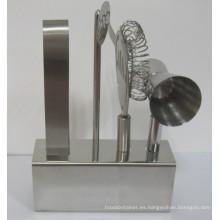 Conjunto de herramientas de coctelera de acero inoxidable