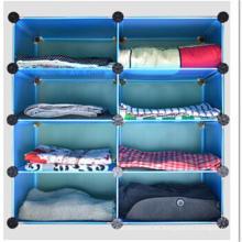 Gabinete de almacenamiento de armoire azul para la ropa