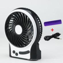 Портативный USB зарядка мини-вентилятор с 3 уровня скорости-черный ветер