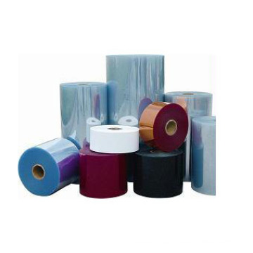 Película de plástico PVC para termoformado y caja