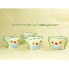 Ceramic Hand-Painted The Set of 4 Measuring Cups-Birds Shape