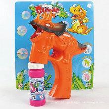 Electric Outdoor Summer Toy Light Dinosaur Bubble Gun