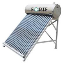 Bon chauffe-eau solaire pressurisé de tube de vide de caloduc compact