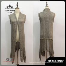 Frauen Low-Waist Sleeveless Pullover