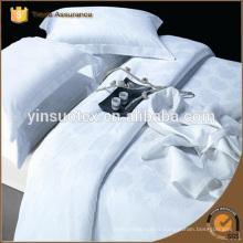 Coton et polycoton Feuille de lit blanc, rayure en satin / jacquard / plaine Feuilletée blanche / Ensemble de literie / literie d'hôtel